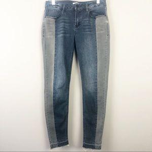 Kensie | Effortless Ankle Two Tone Jeans